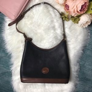 Dooney & Bourke Vintage Black Leather Hobo Bag
